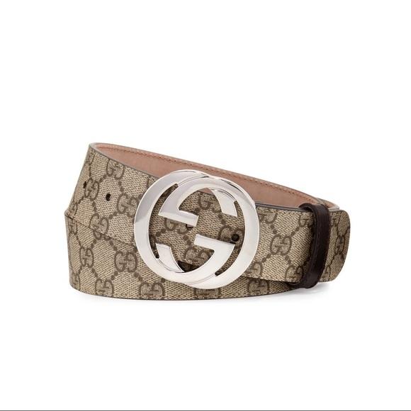 5b2360b4e Gucci Accessories | Gg Supreme Belt W Interlocking G | Poshmark